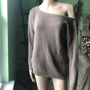 Misguided off shoulder sweater